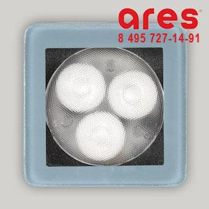Ares 100172132 TAPIOCA QUADRO 3x1W BI.NAT. FS SOLO VETRO