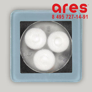 Ares 10017241 TAPIOCA QUADRO 3x1W BI.NAT. SOLO VETRO