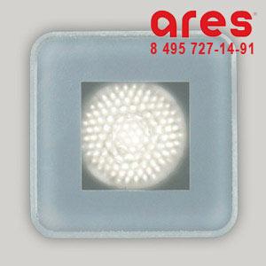Ares 100175124 TAPIOCA QUADRO 2WLED BI. FRED. SOLO VETRO SABBIATO