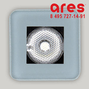 Ares 100175133 TAPIOCA QUADRO 2WLED BI. FRED. SOLO VETRO FS