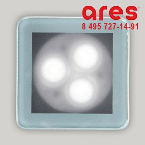 Ares 100178125 TAPIOCA QUADRO3x2W LED BI.FRE SOLO VETRO SABBIATO