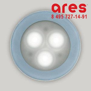 Ares 10073122 TAPIOCA D.70 3x1W LED BI. FRED SOLO VETRO SABBIATO