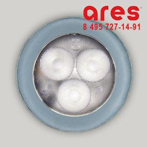 Ares 1007340 TAPIOCA D.70 3x1W LED BI. FRED SOLO VETRO