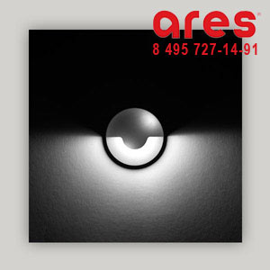 Ares 517062 RHO NW 2W 24V CALOT 180°INOX PARETE