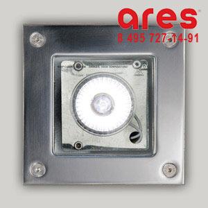 Ares 653315 BEA GU 5,3 1X50W INOX BASC. ***TRANSPARENT GLASS***